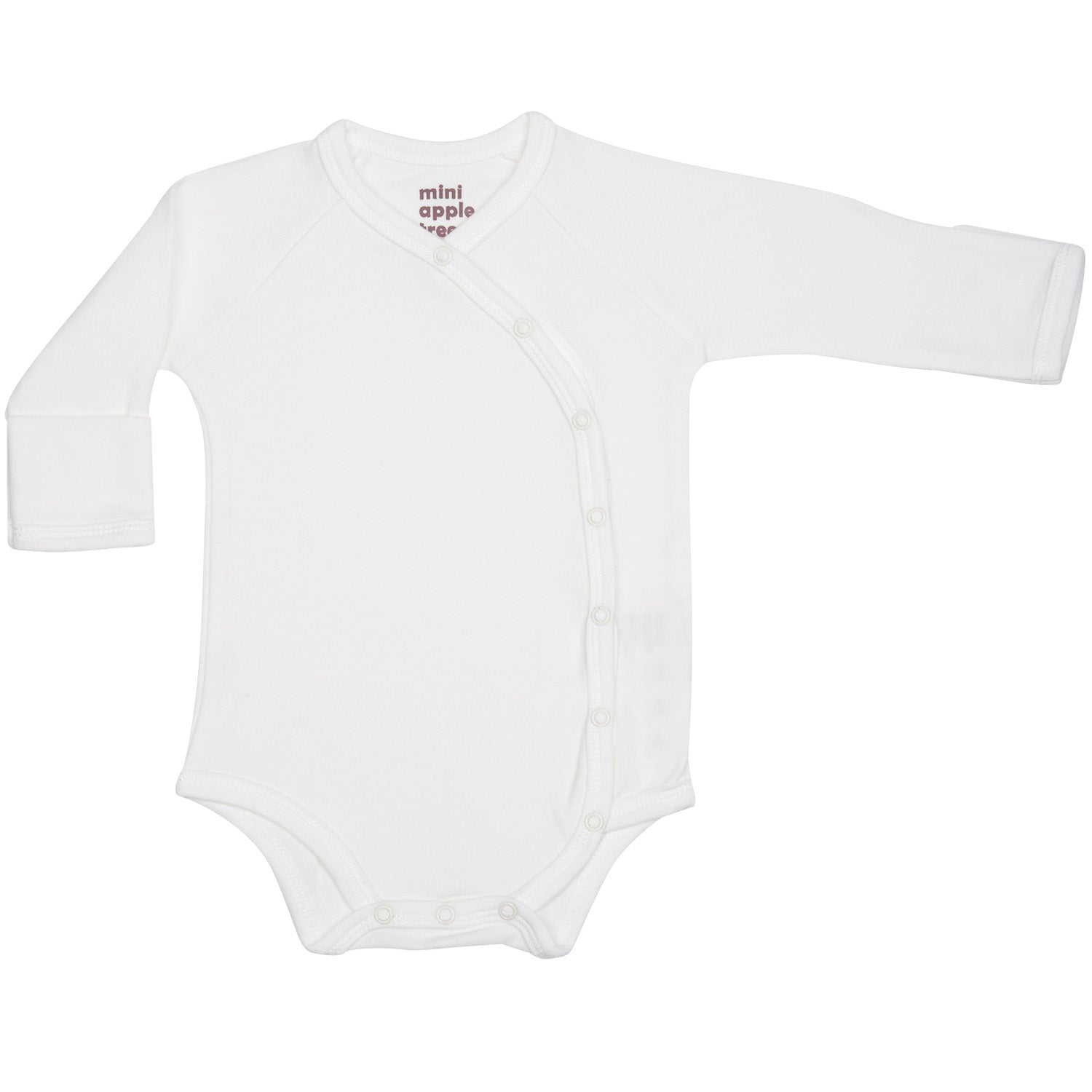Organic Baby Essentials Long Sleeve Bodysuit with Side Snaps Cream
