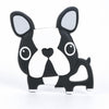 Loulou Lollipop Silicone Baby Teether - Boston Terrier Black