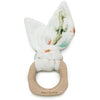 Loulou Lollipop Bunny Ear Teething Ring - Cactus Floral