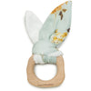 Loulou Lollipop Bunny Ear Teething Ring - Wild Rose