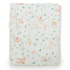 Loulou Lollipop Bamboo Muslin Fitted Crib Sheet - Bunny Meadow