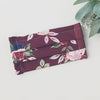 Reusable Face Mask with Filter Pocket - Plum Floral (Teen/Adult)