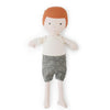 Hazel Village Organic Charlie Doll in Natural Shirt and Linen Shorts
