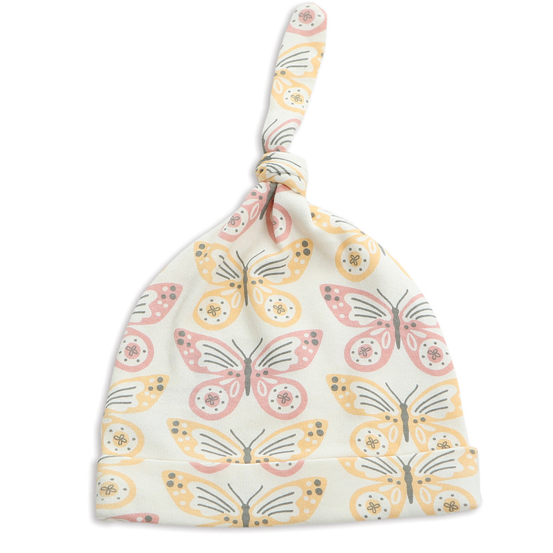 Silkberry Baby Organic Cotton Knot Hat - Butterfly