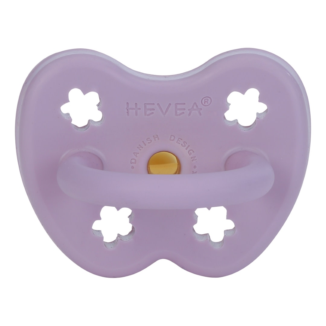 Hevea Natural Rubber Pacifier Lavender (Orthodontic 3-36m)