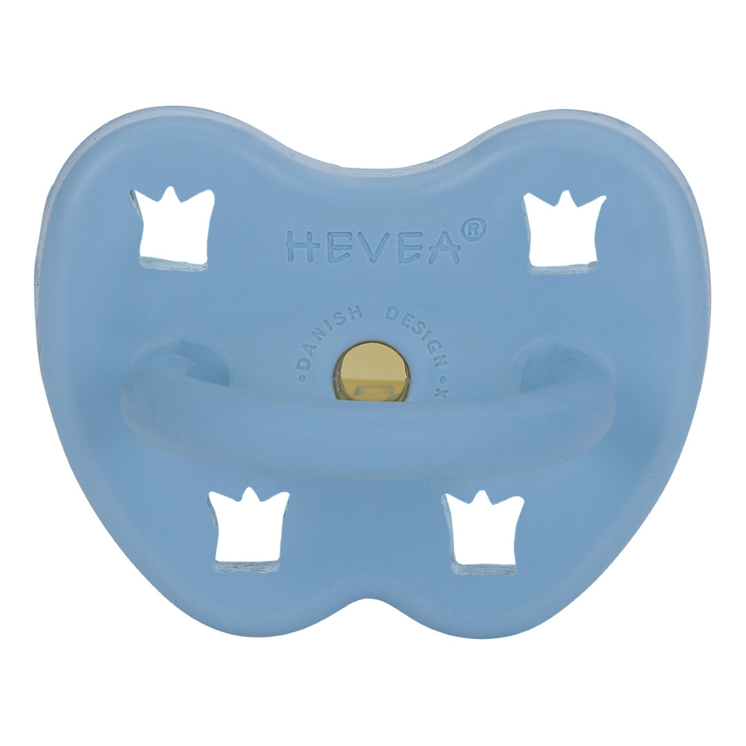 Hevea Natural Rubber Pacifier Skye Blue (Orthodontic 3-36m)