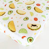 Loulou Lollipop Bamboo Muslin Fitted Crib Sheet - Taco