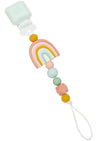 Loulou Lollipop Silicone Darling Pacifier Clip Rainbow