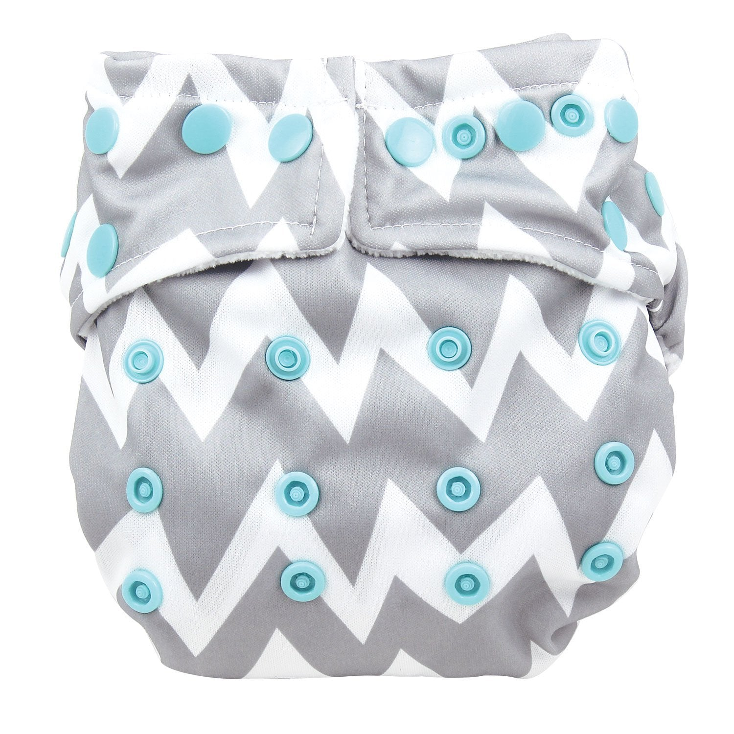 Bumkins Snap-in-One Cloth Diaper Gray Chevron