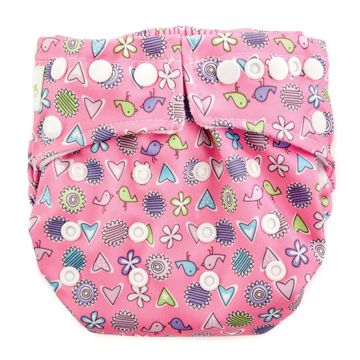 Bumkins Snap-in-One Cloth Diaper Love Birds