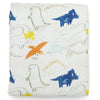 Loulou Lollipop Bamboo Muslin Fitted Crib Sheet Dinoland