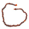 Healing Hazel Baltic Amber Baby Teething Necklace Raw Cognac