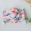 Reusable Face Mask with Filter Pocket - Blue and Pink Floral (Teen/Adult)