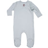 Organic Baby Essentials Footie with Side Snaps Gray