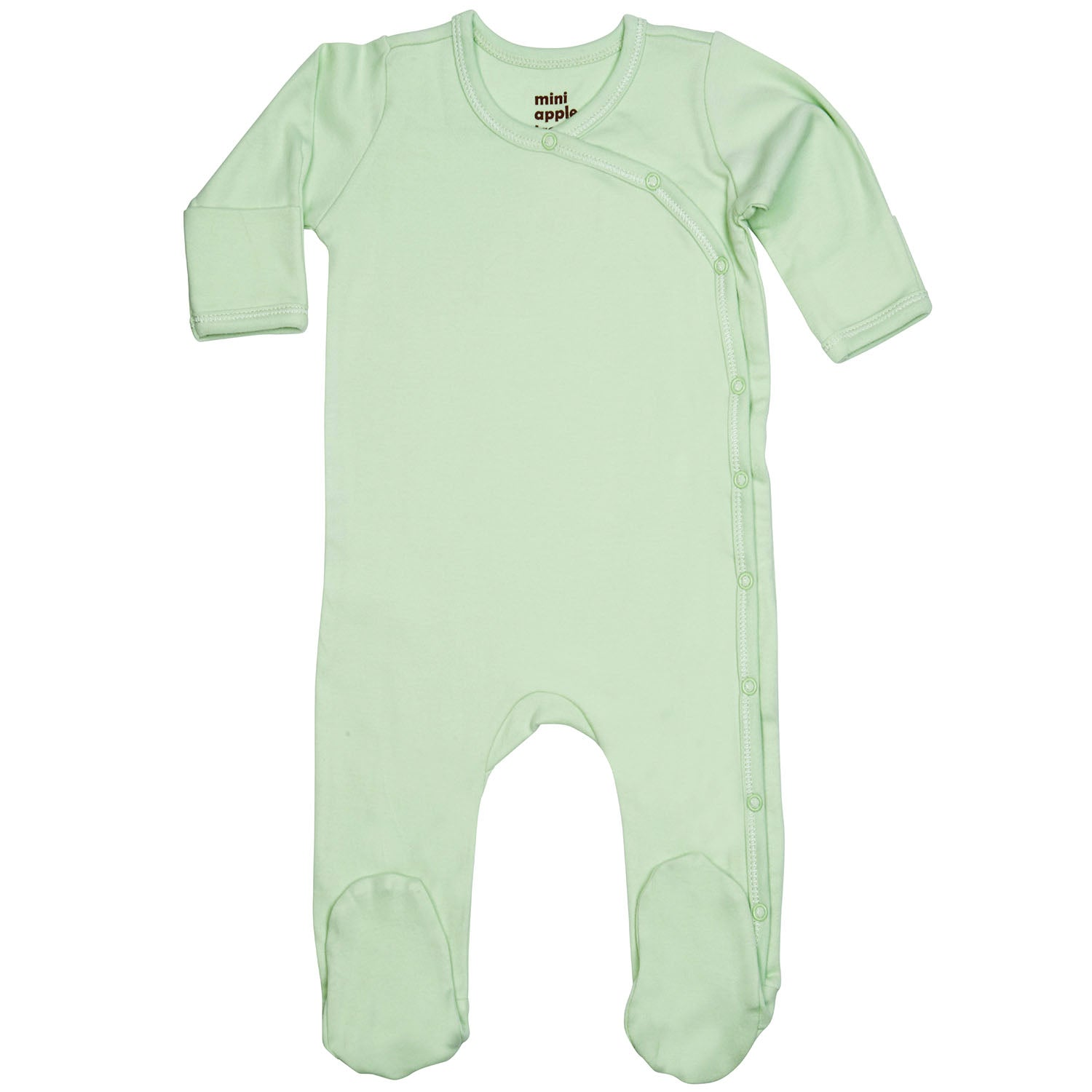 Organic Footie with Side Snaps Sage Green
