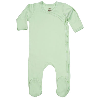 Organic Baby Essentials Footie with Side Snaps Sage Green