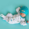 L'ovedbaby Organic Cotton Footie - Teal Nest