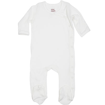 Organic Baby Essentials Footie with Side Snaps Cream