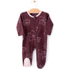 City Mouse Organic Footed Romper w/ 2-Way Zipper Hellebore