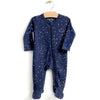 City Mouse Organic Footed Romper with 2-Way Zipper Night Sky