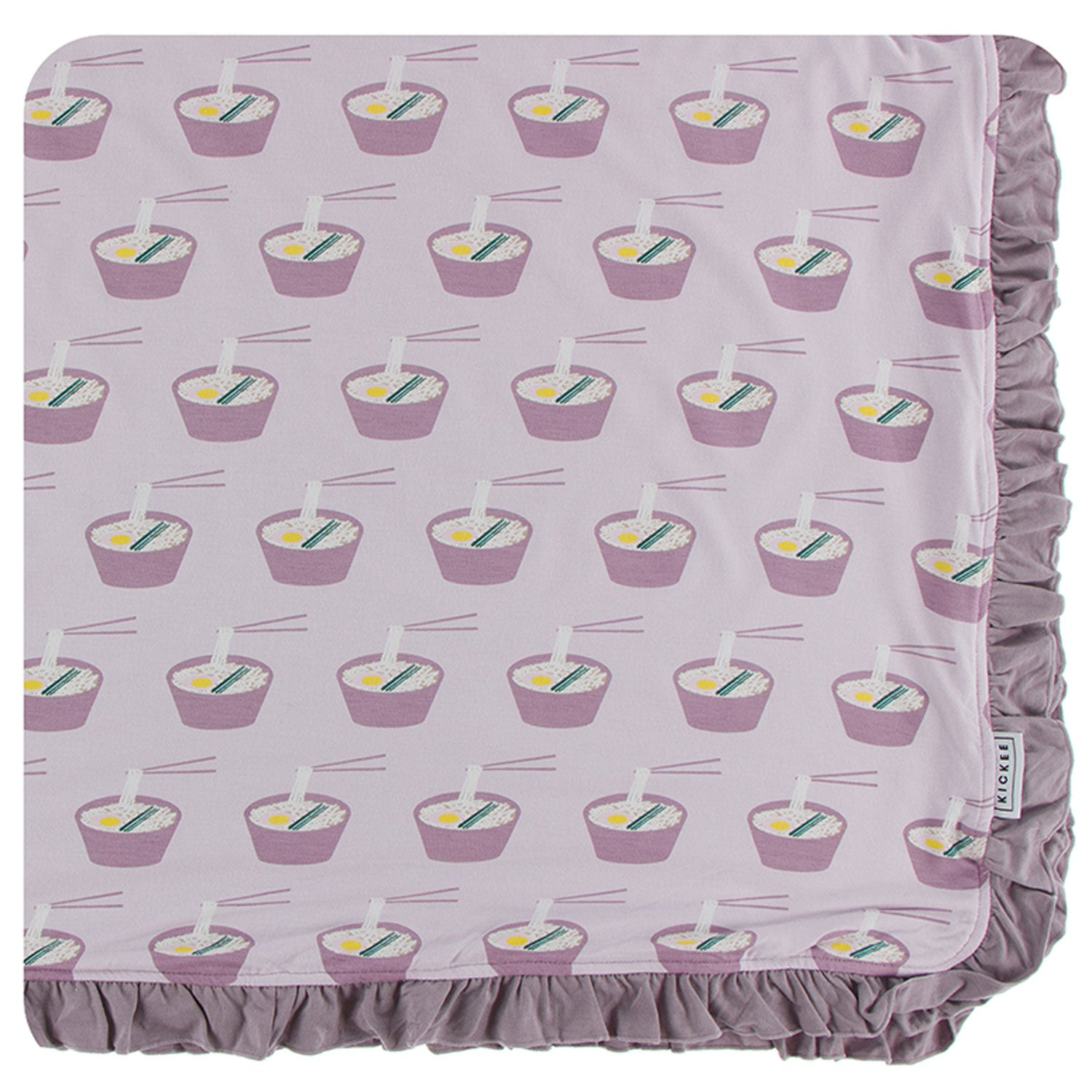 KicKee Pants Ruffle Toddler Blanket - Thistle Ramen