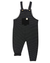 Turtledove London Organic Stripe Easy Fit Dungarees