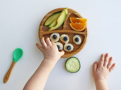 Avanchy Bamboo Suction Baby Plate and Spoon