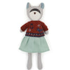 Hazel Village Organic Gwendolyn Raccoon in Egg Blue Linen Dress and Sweater