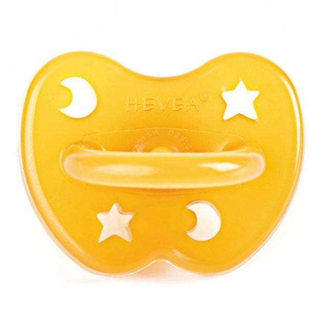 Hevea Natural Rubber Pacifier Star & Moon Orthodontic