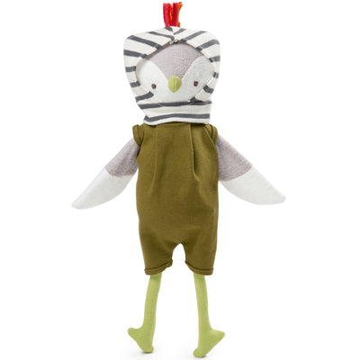 Hazel Village Organic Jeremy Owl in Romper and Balaclava