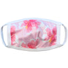 Kids Cotton Face Mask with Filter Pocket - Happy Hibiscus (2-7Y)