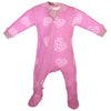 ZippyJamz Organic Baby Footed Sleeper w/ Inseam Zipper - Heartbreaker Pink