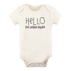 Tenth & Pine Organic Baby Short Sleeve Bodysuit - Hello I'm New Here