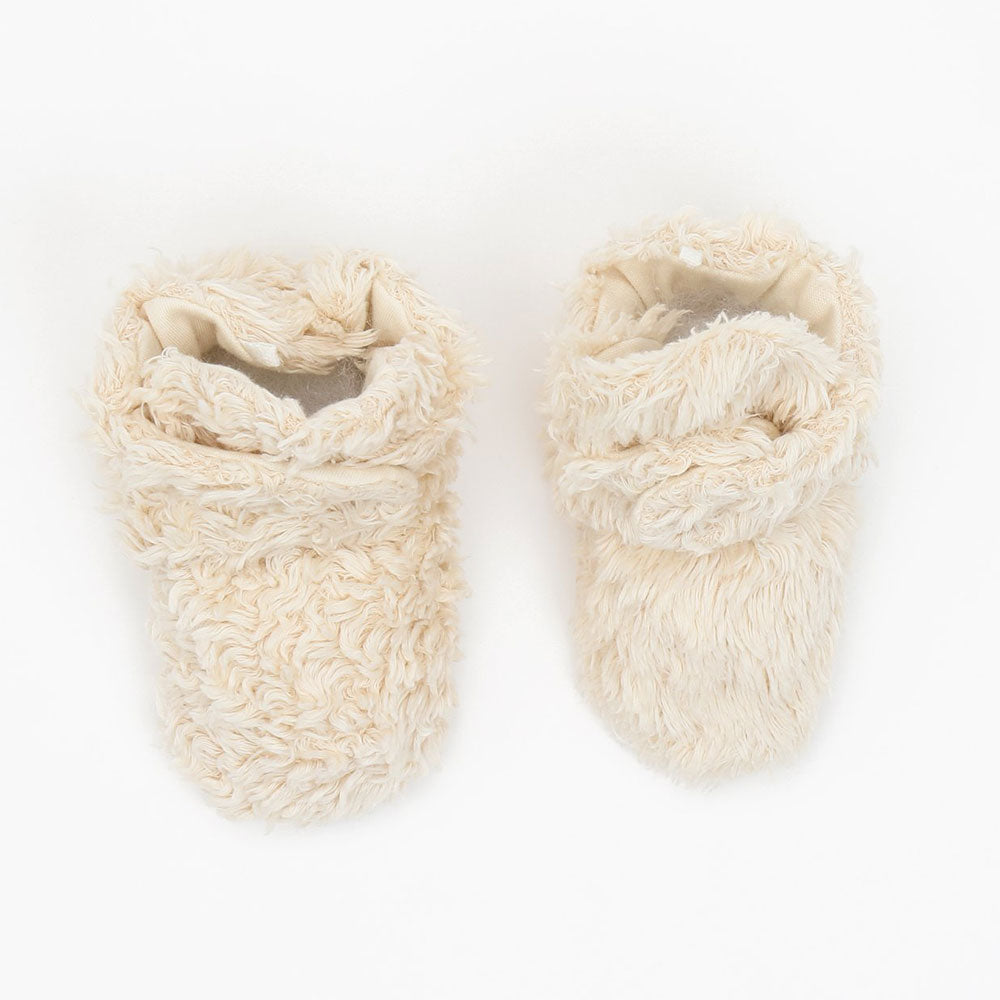 Under the Nile Organic Faux Fur Sherpa Snap Booties