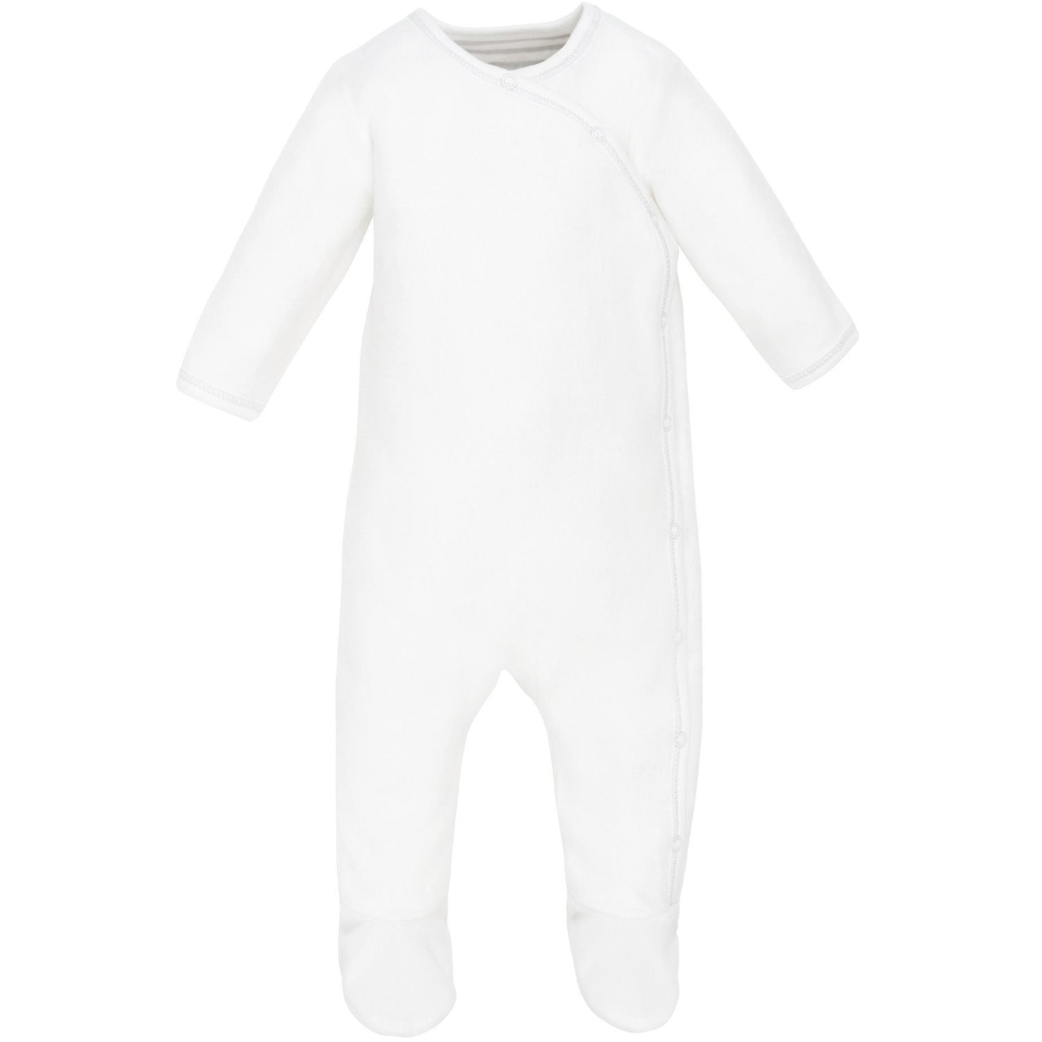 Under the Nile Organic Cotton Sherpa Side Snap Footie