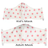 Organic Cotton Reusable Face Mask with Filter Pocket - Pink Polka Dot