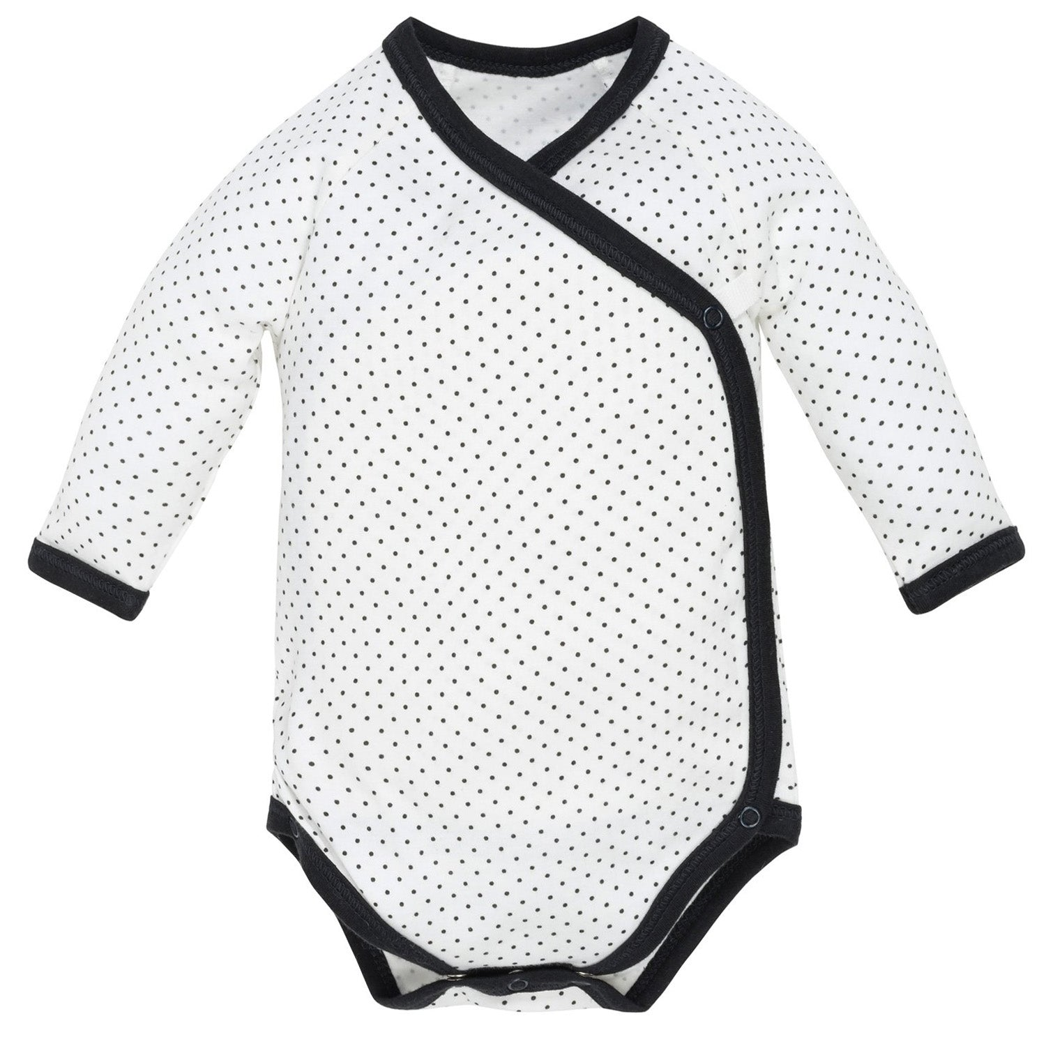 Under the Nile Organic Long Sleeve Side Snap Bodysuit - Polka Dot