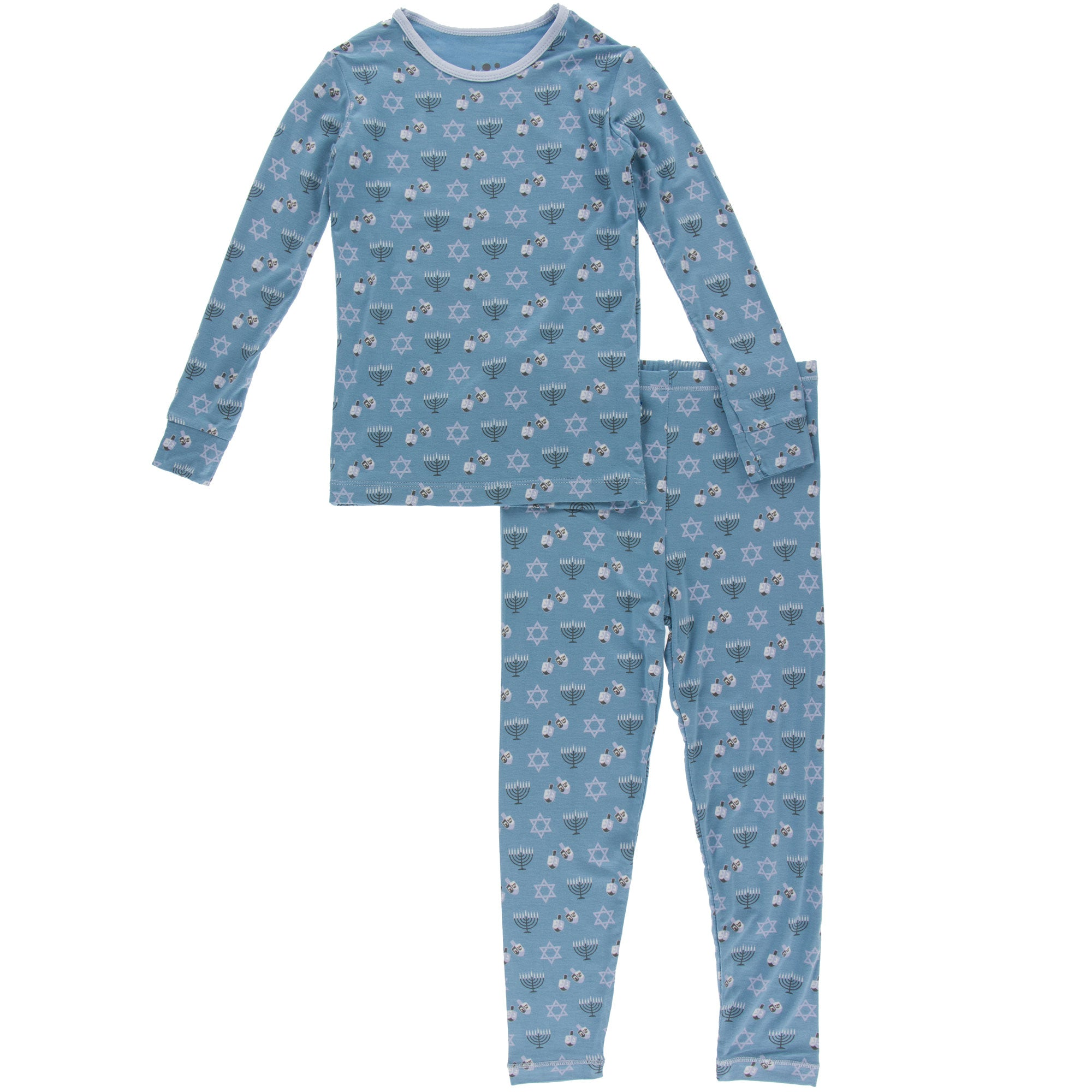 KicKee Pants Pajama Set - Blue Moon Hanukkah