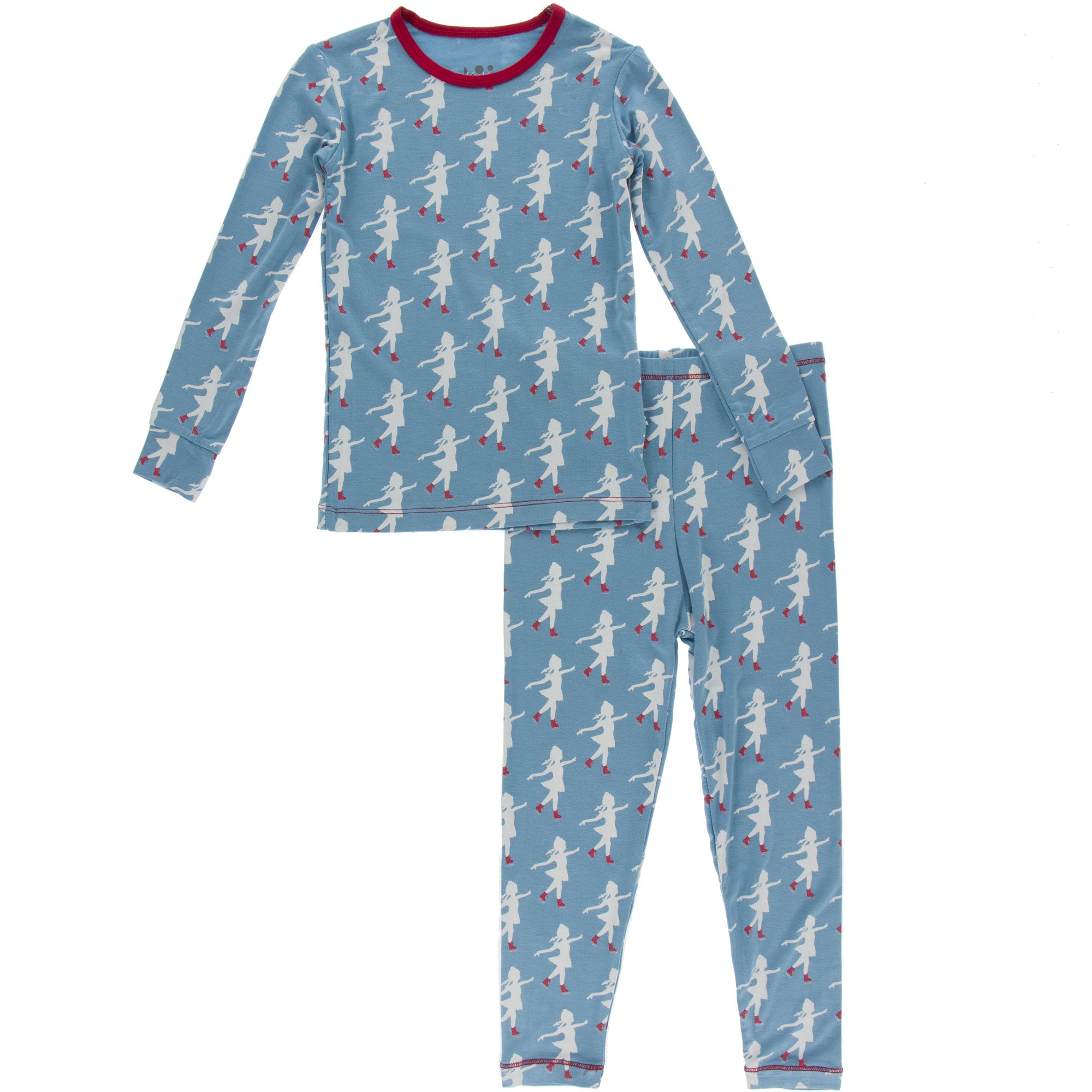 KicKee Pants Pajama Set - Blue Moon Ice Skater