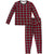 KicKee Pants Pajama Set - Crimson 2020 Holiday Plaid