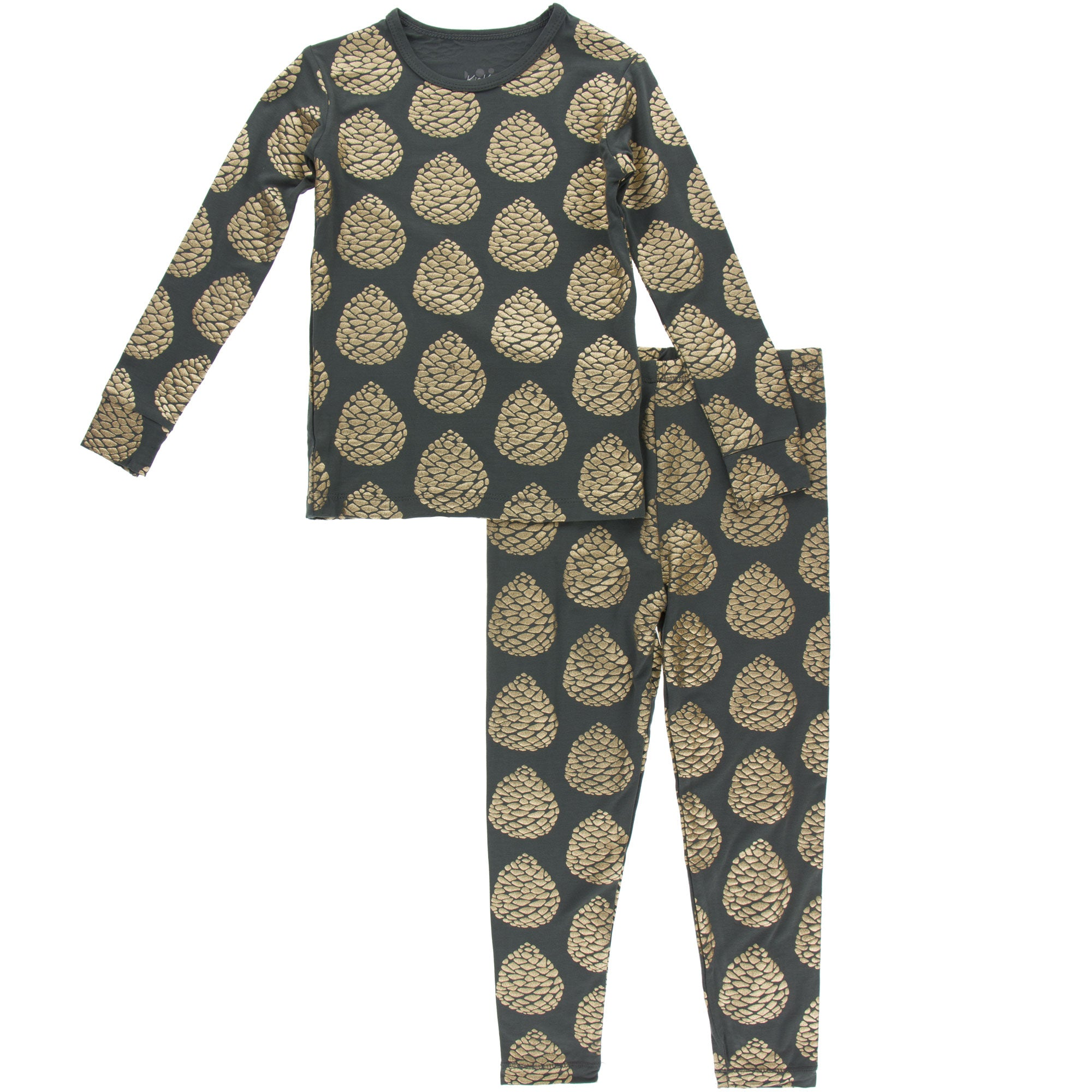 KicKee Pants Pajama Set - Pewter Pinecones