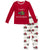 KicKee Pants Pajama Set - Natural Christmas Hippo