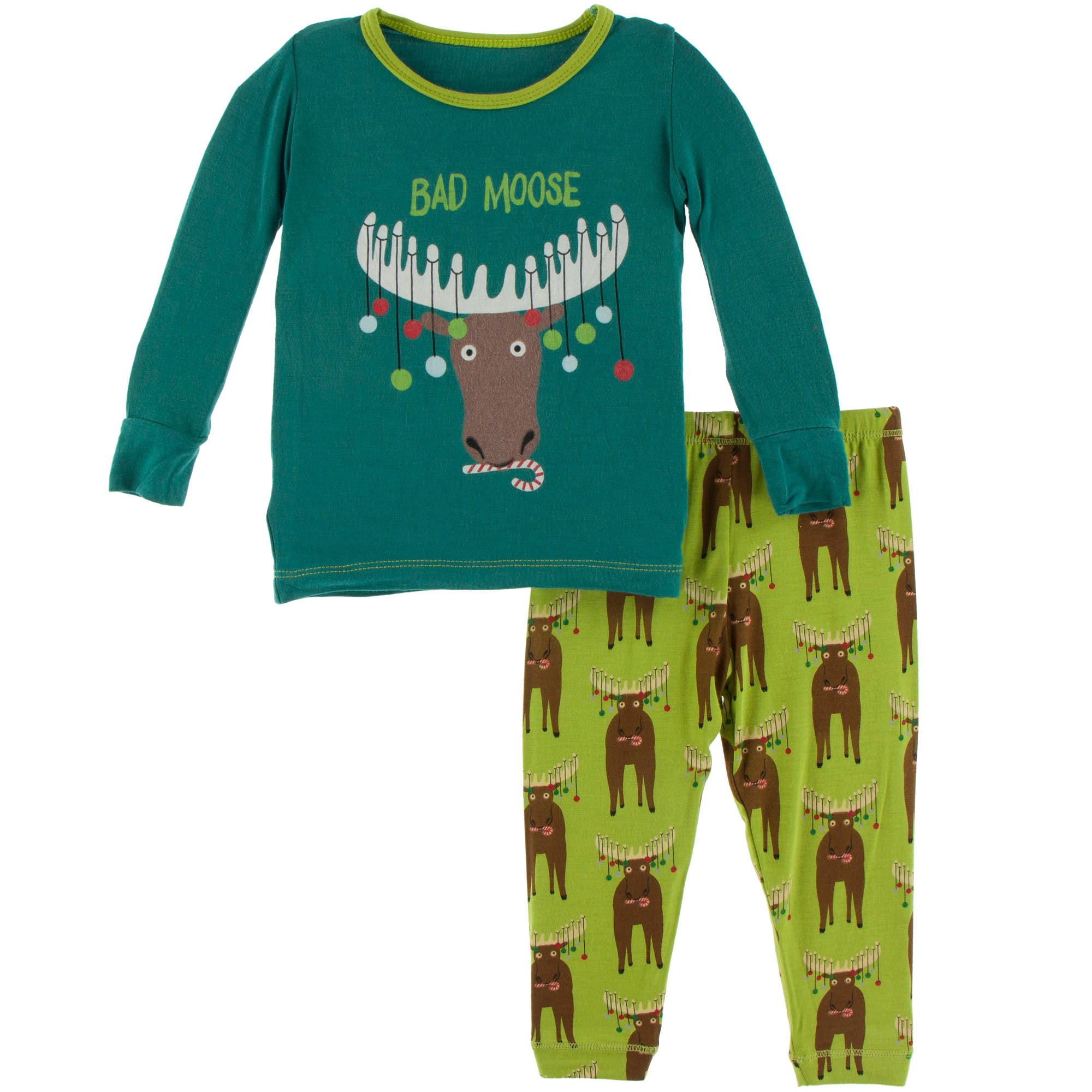 KicKee Pants Pajama Set - Meadow Bad Moose