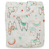 Loulou Lollipop Bamboo Muslin Fitted Crib Sheet - Llama