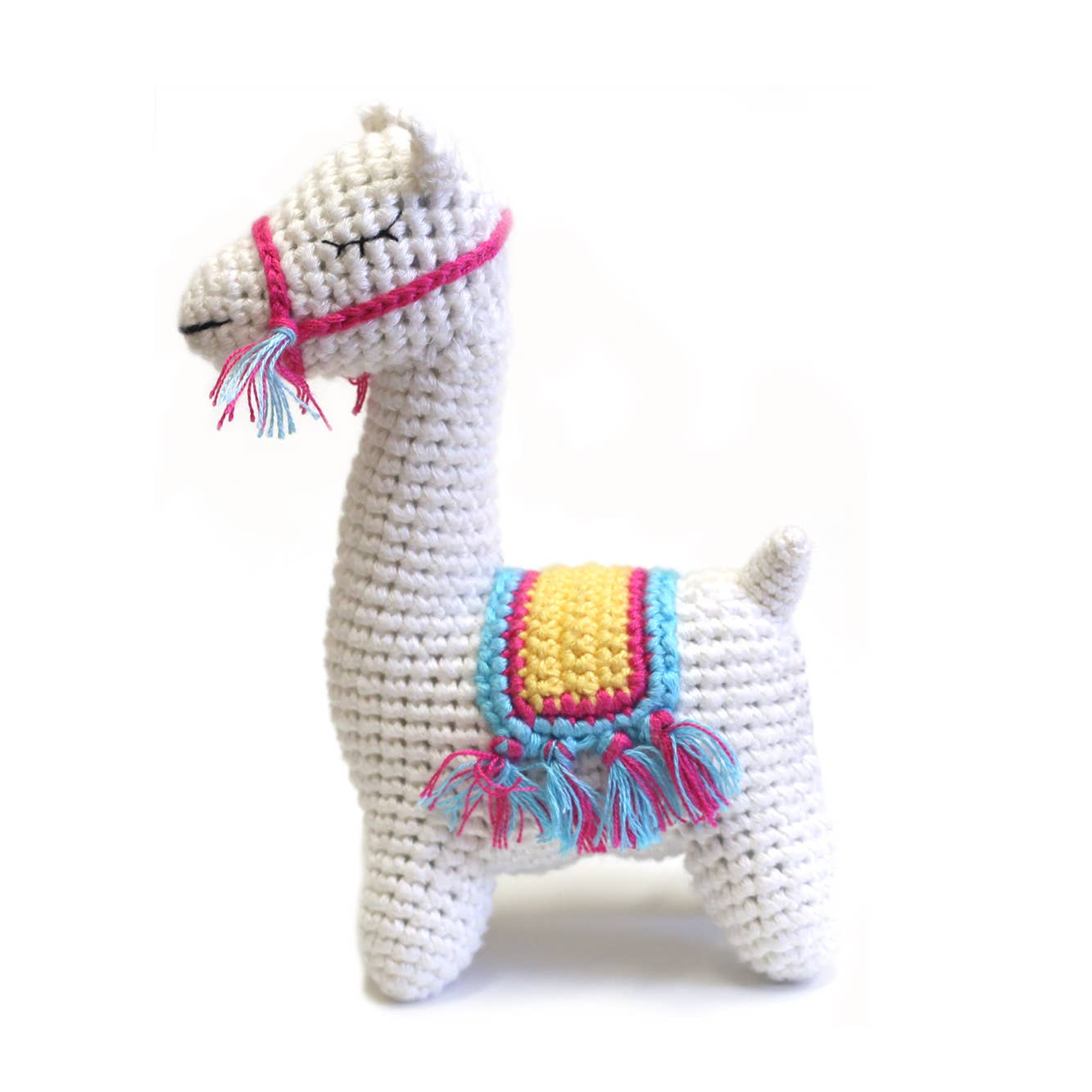 Cheengoo Llama Crocheted Rattle