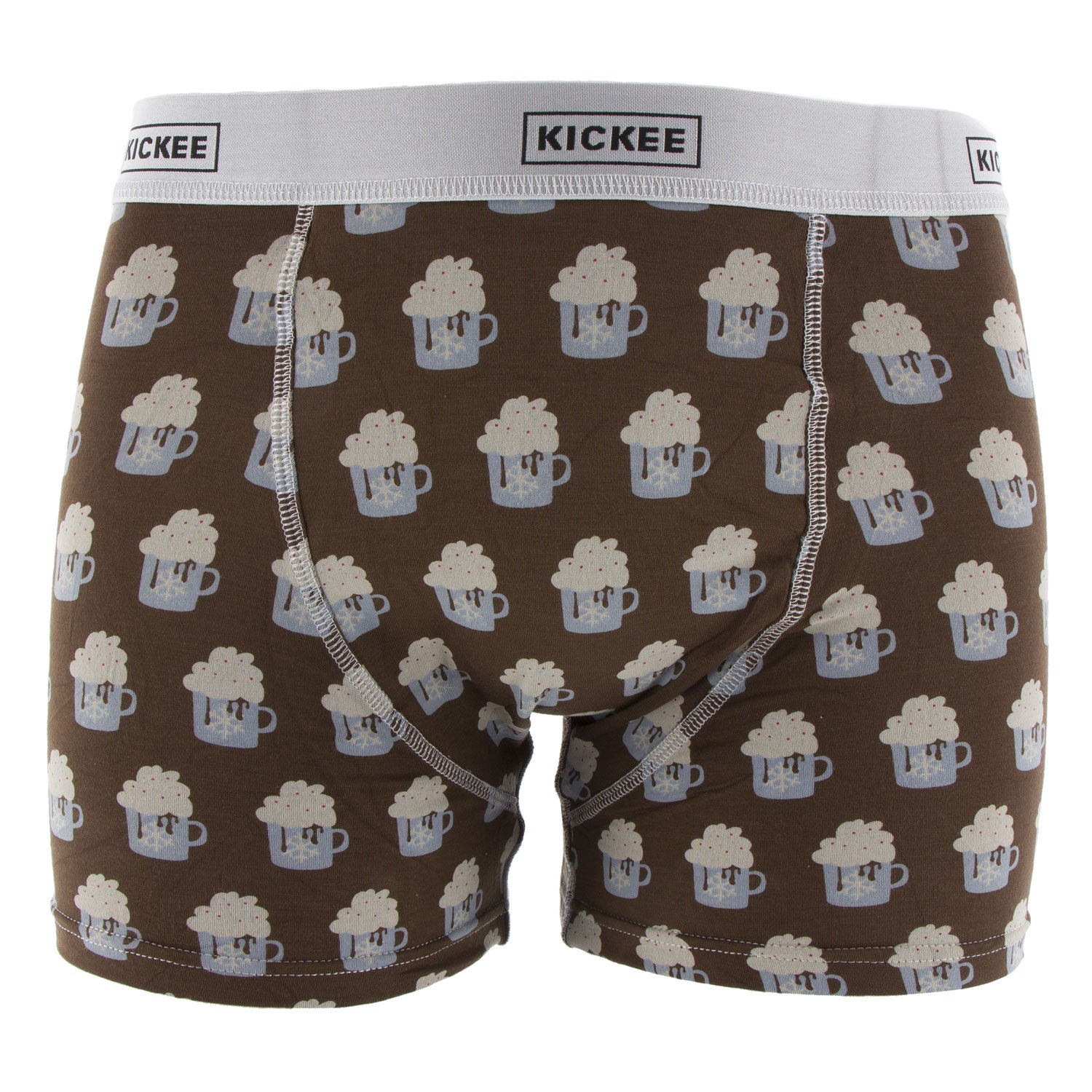KicKee Pants Mens Boxer Brief - Hot Cocoa