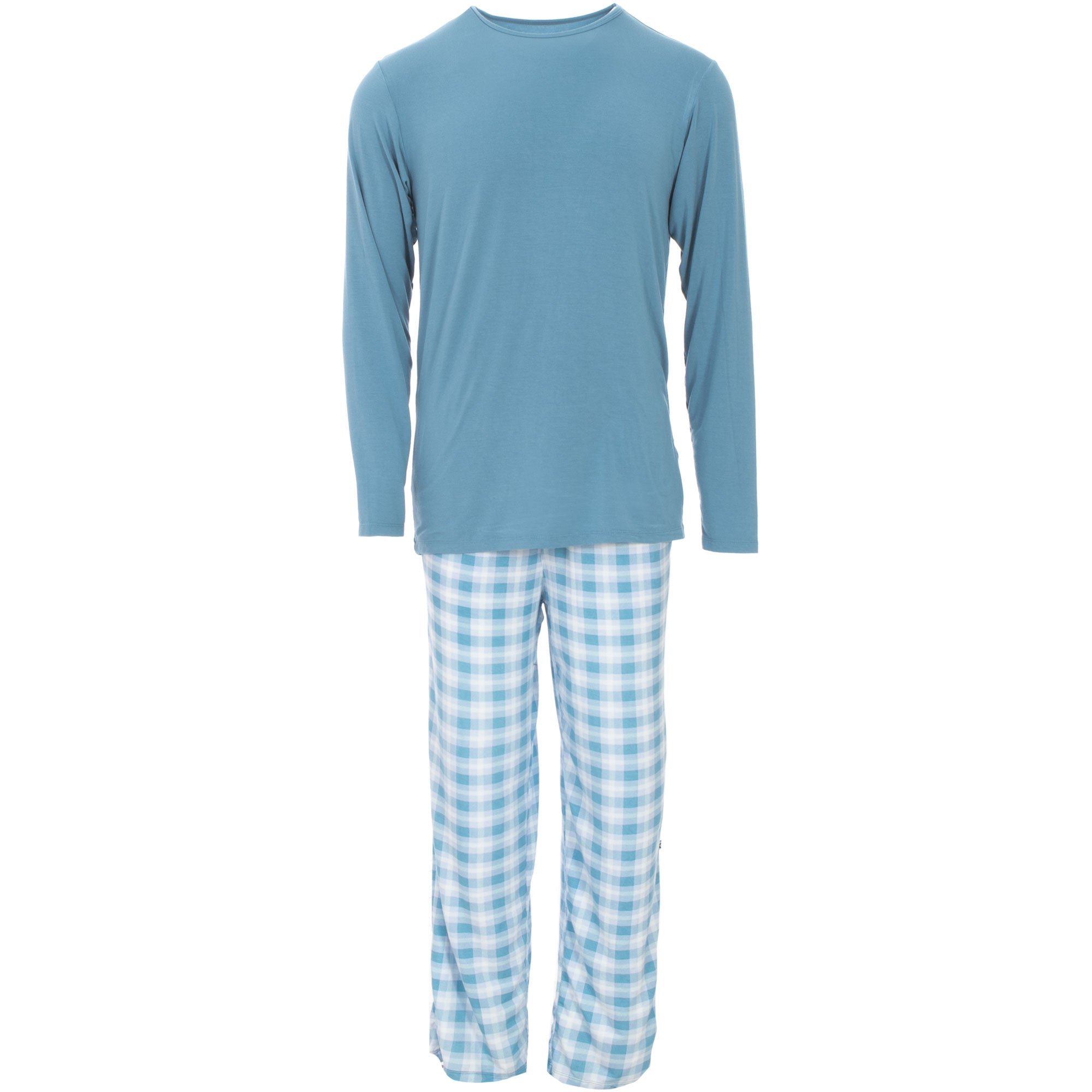 KicKee Pants Mens Pajama Set - Holiday Plaid