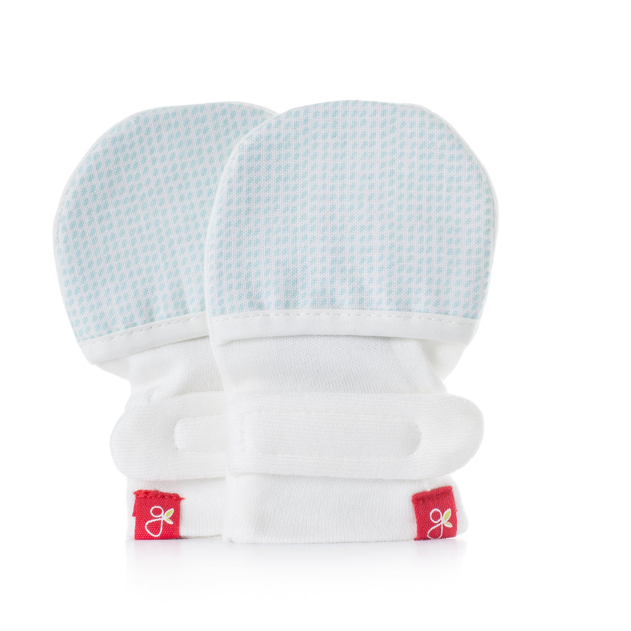 Goumikids Stay On Baby Mittens Aqua Drops