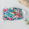 Reusable Face Mask with Filter Pocket - Teal Floral (Teen/Adult)