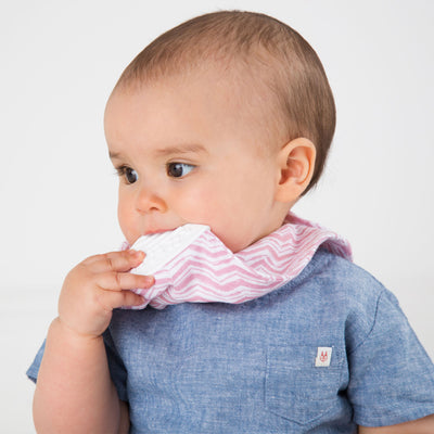 Cheeky Chompers Organic Muslin Neckerchew Rosy Days